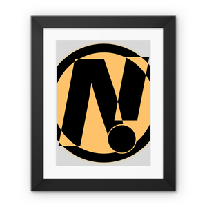 NO!ZECODE ICON Framed Fine Art Print – 12″x16″