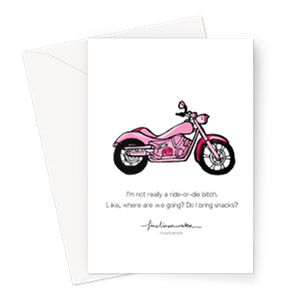 Ride Or Die Greeting Card – 1 Card