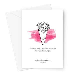 Fabulous Fries Greeting Card – 1 Card