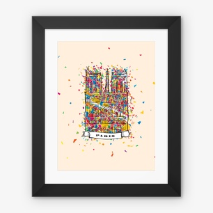 Paris Artprint Framed Fine Art Print – 12″x16″