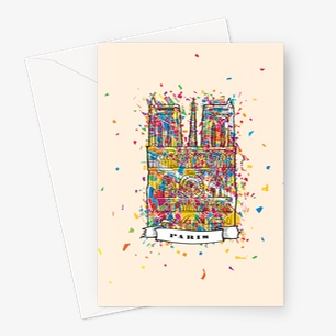 Paris Artprint Greeting Card