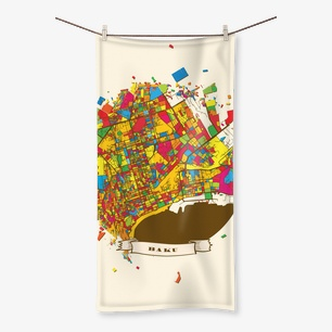 Baku Artmap Beach Towel – 19.7″x39.4″