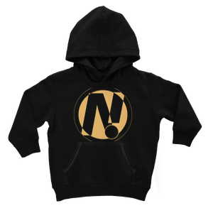NO!ZECODE ICON Kids Hoodie – 3-4 Years, Jet Black