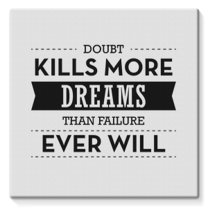 Dobut Kills More Dreams Stretched Canvas – 10″x10″