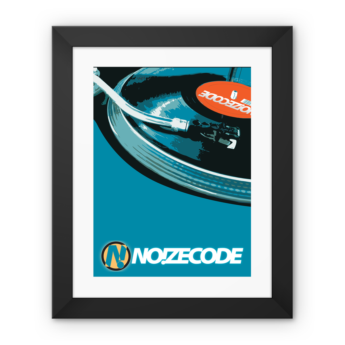 Noizecode Vinyl Framed Fine Art Print – 12″x16″, Black