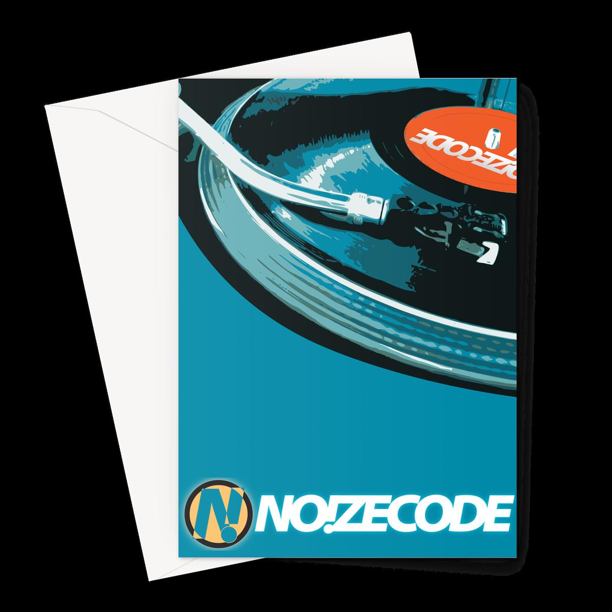 Noizecode Vinyl Greeting Card – 1 Card