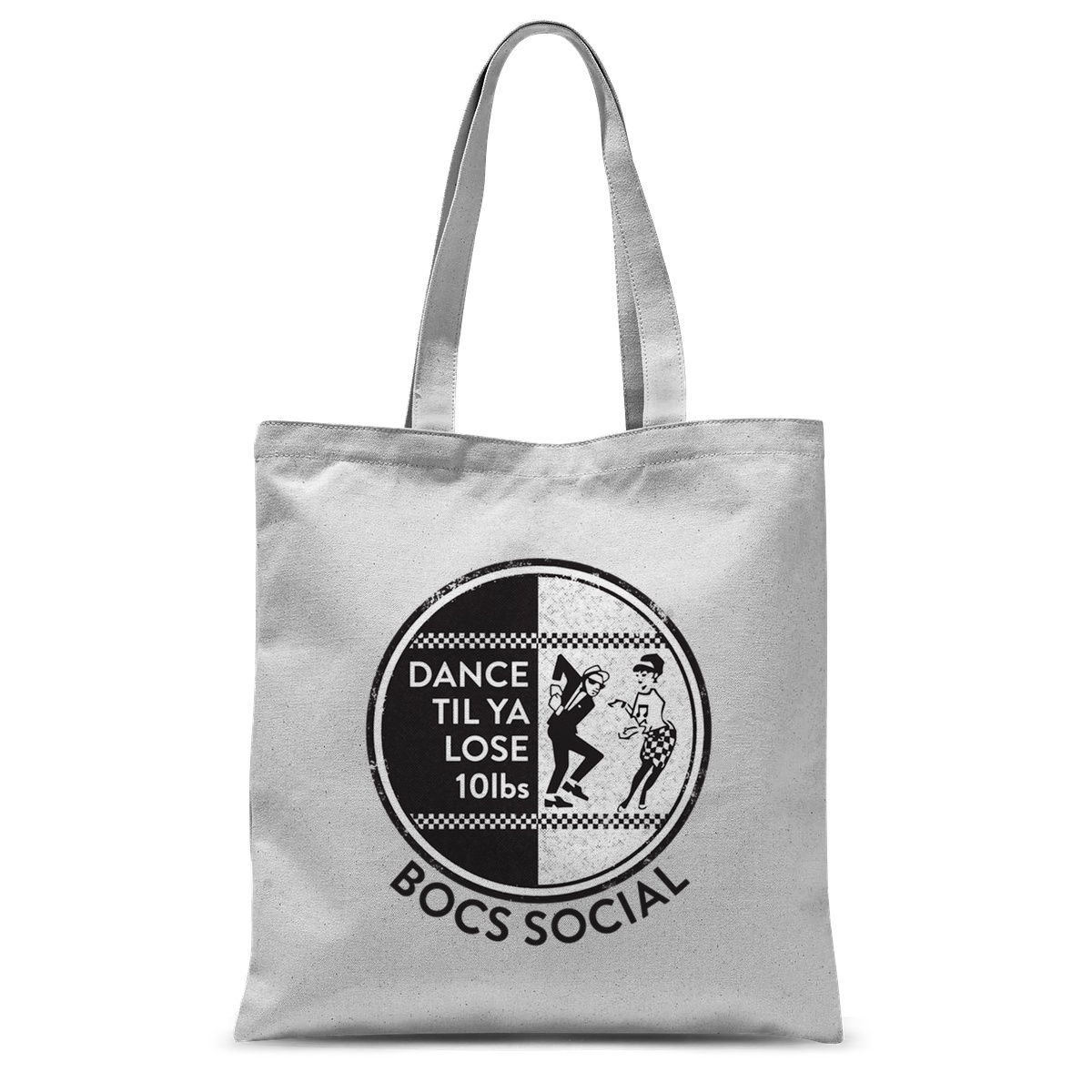 B&W Dance Tote Bag – 15″x16.5″